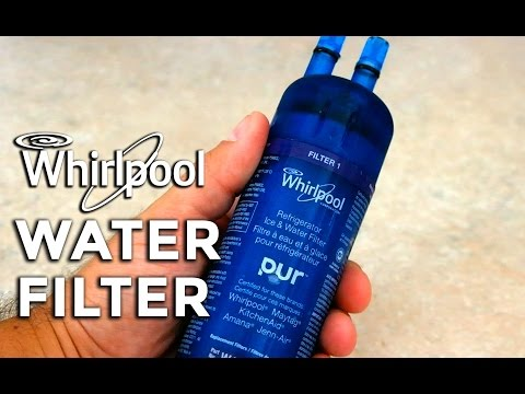 How to change a Whirlpool refrigerator water filter