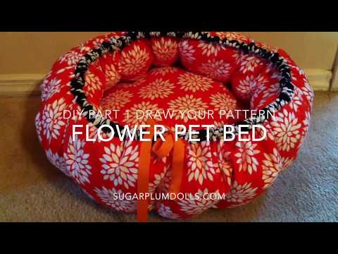 Flower Pet Bed DIY