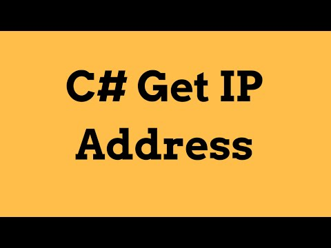 C# - How To Get Your IP Address Using C#  [ with source code ]
