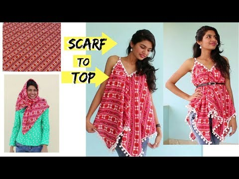 5 Min. Convert Dupatta/Scarf into Top| DIY | Refashion Clothes| Summer Special