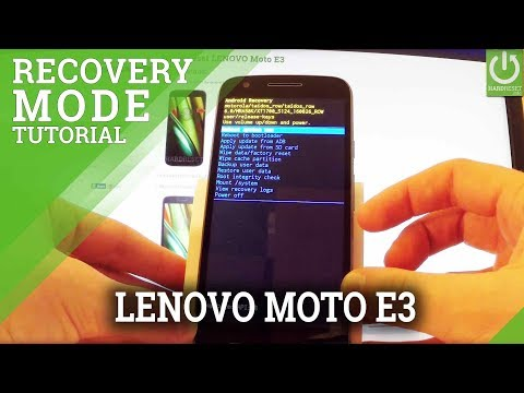 How to Open Recovery Mode in LENOVO Moto E3 - Moto Recovery