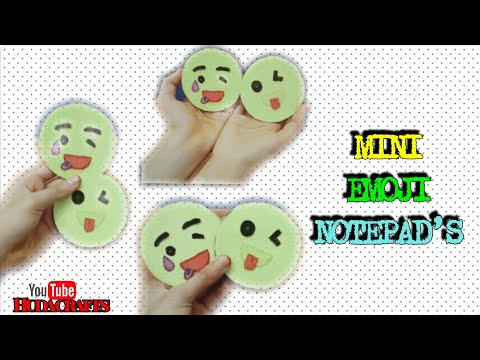 How to make Emoji notepads | Mini Notepads | Emoji crafts | paper Crafts | Easy DIY | Huda Crafts