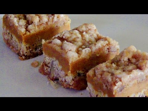 Gluten Free Pumpkin Walnut Crumb Bars