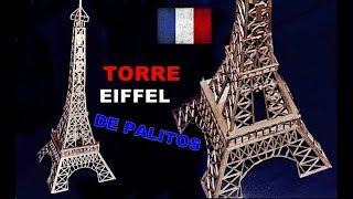 Presente Criativo Torre Eiffel de Palitos de Fósforo (como fazer) Maquete Artesanato