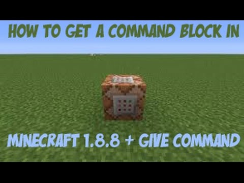 How To Get A Command Block in Minecraft 1.8.8 [OUTDATED]
