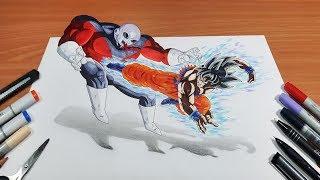Cómo Dibujar A Goku Mastered Ultra Instinct Vs Jiren 100 La