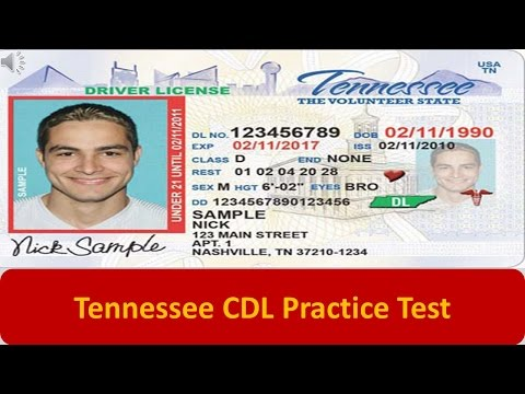 Tennessee CDL Practice Test