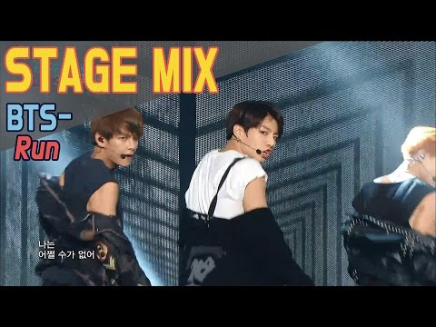 BTS - RUN @Show music core Stage Mix