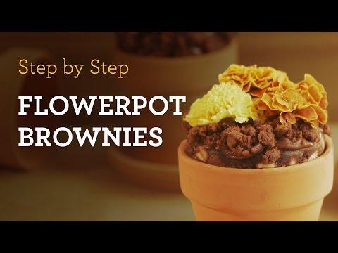 MyCupcakeAddiction's Delicious Flowerpot Brownies