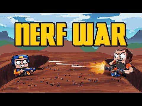 Minecraft Nerf Wars - TRICKSHOTS COMPETITION! (Nerf Guns Mod)