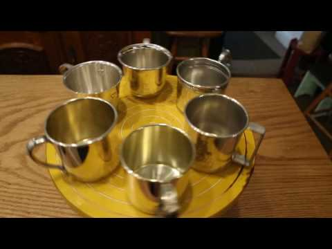 Silver Plate Baby Cups - Spinning on Lazy Susan
