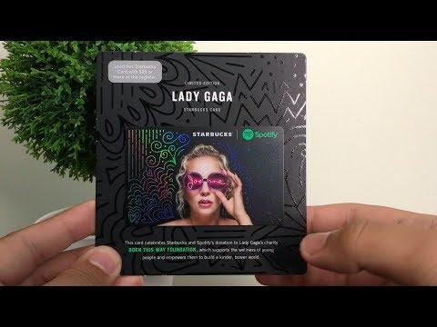 Lady Gaga Starbucks + Spotify Card (Review)