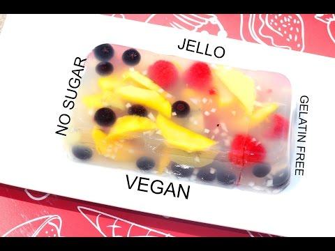 VEGAN Fruity Coconut Jello Video Recipe | NO GELATIN SUGAR | HEALTHY