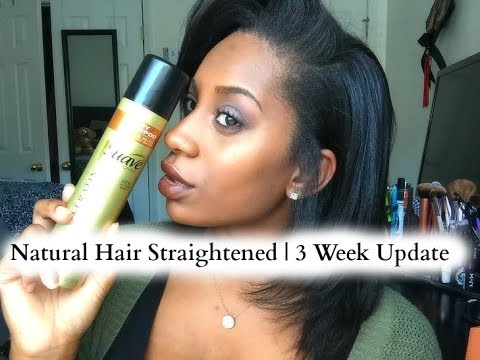Natural Hair Straightened | 3 Week Update & Secret To Minimizing Oily Hair