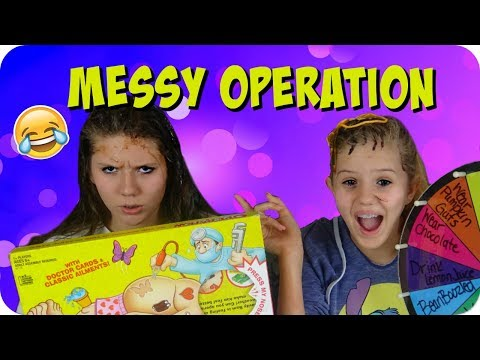 MESSY BOARD GAME CHALLENGE || OPERATION BOARD GAME || Taylor and Vanessa