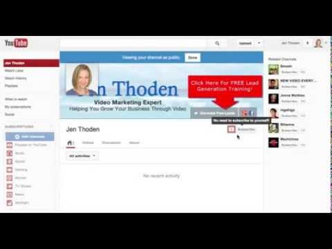 YouTube Marketing Tip - How To Customize Your YouTube Channel Background 2013