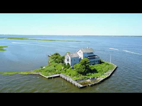 Drone Footage- Abandoned House (Brick, NJ) in Barnegat Bay- Oceanlifeproductions