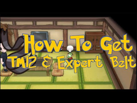 Pokemon Omega Ruby & Alpha Sapphire Tips : How To Get TM12 Taunt And Expert Belt