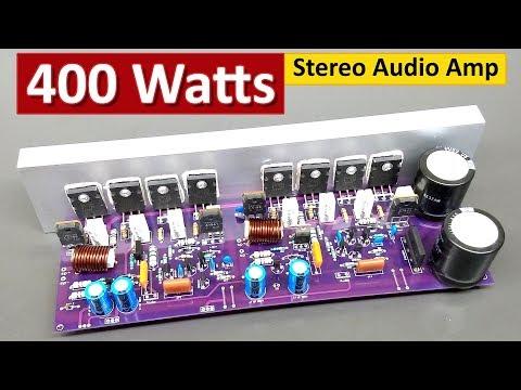 400 Watts Stereo Audio Amplifier Board DIY 2SC5200+2SA1943 Transistor ( Hindi ) ELECTRO INDIA