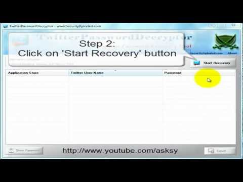 How to recover Twitter Password without email - Tutorial 2012