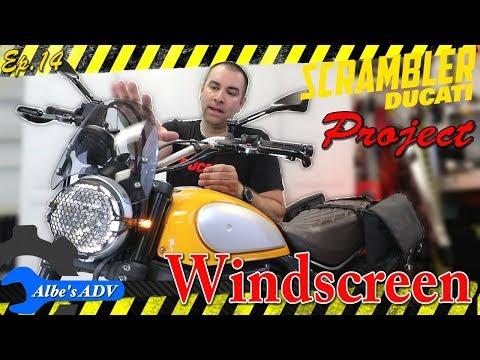 Dart Classic windscreen and micro turn sugnals - Ducati Scrambler Project Ep 14