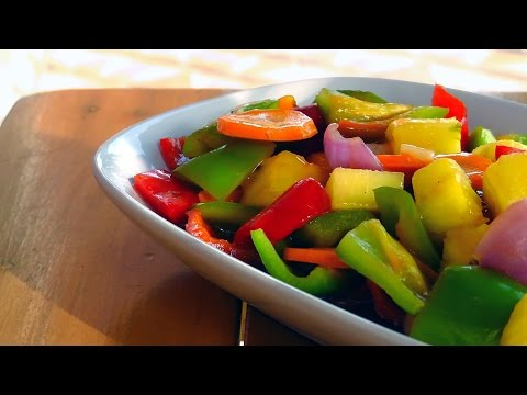 Chinese Sweet and Sour Vegetables - Vegan Vegetarian Recipe