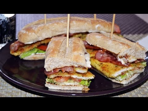 Crispy Chicken & Bacon Sandwich - Easy Sandwich Recipe