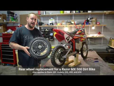 Razor MX Dirtbike Rear Wheel Repair (MX 350, 400, 500, 650)
