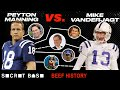 """Peyton Manning and his """"idiot kicker"""" had a brief beef, but the football world never let it die"""