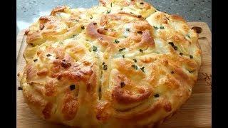 Delicious & Fluffy Scallion & Garlic Cheese Bread