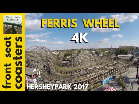 Ferris Wheel POV 4K Hersheypark 2017 Springtime In The Park On-Ride Front Seat