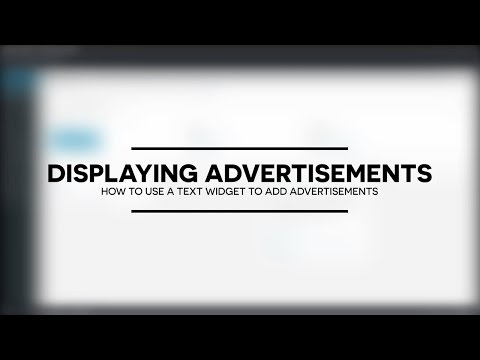 How to use WordPress Text widgets to display advertisements