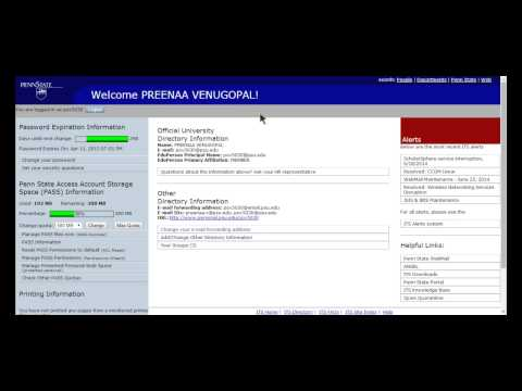 PSU Webmail Tutorial (Forwarding email, Setting up email on your phone)