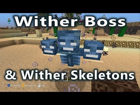 Minecraft - Title Update 19 - Wither Skeletons and How to Spawn the Wither Boss!