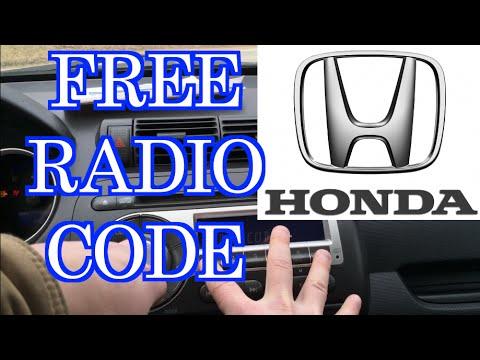 FREE HONDA RADIO CODE