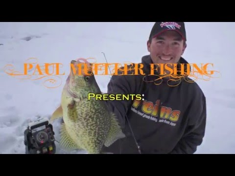 Ice Fishing For Crappie -midwinter