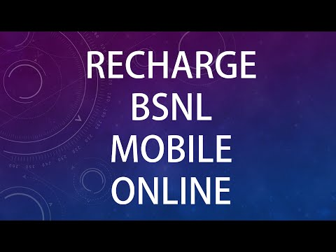 BSNL Mobile Recharge from portal.bsnl.in