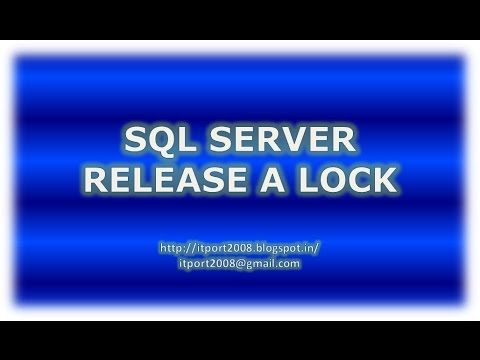 How to Release a lock on Table in SQL Server