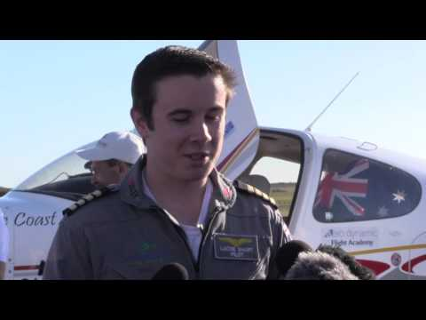 18 year old breaks Guinness World Record for solo flight around world
