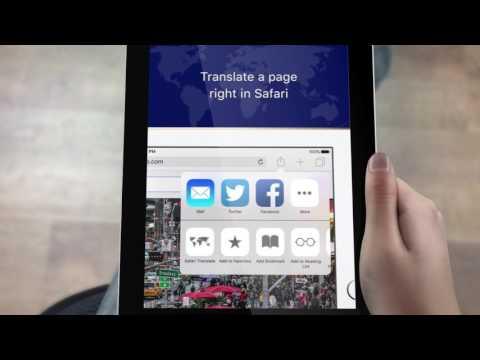 Safari Web Page Translator app for iPhone + iPad - Google Translate 90 languages