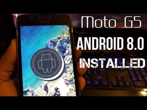 Moto G5 Root & Install Android 8.1.0 OREO