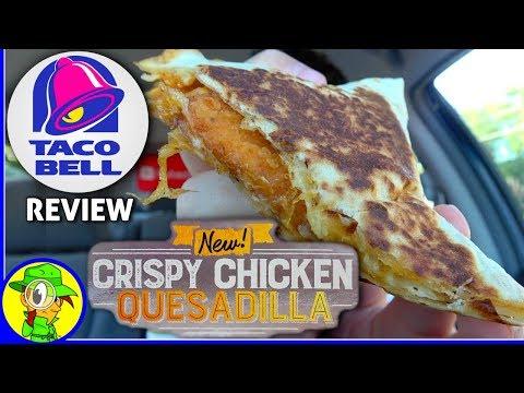 Taco Bell®   Crispy Chicken Quesadilla Review! 🌮🔔🧀