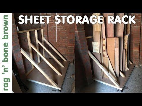Storage Rack For Sheet Materials (Plywood, OSB, MDF, Chipboard, Melamine etc)