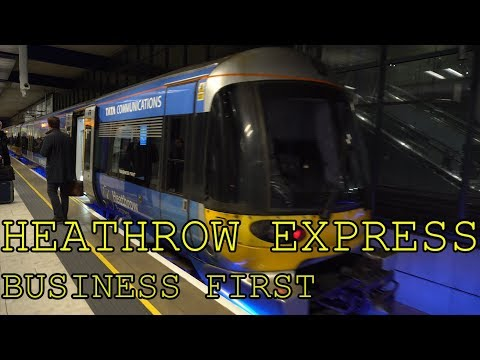 The most luxurious airport train? Heathrow Express | Business First | Terminal 5 to Paddington