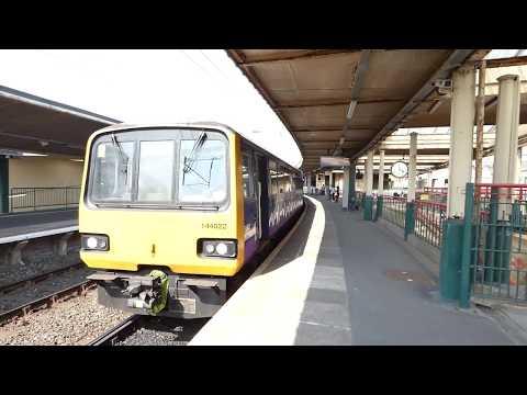 15.59 Morecambe train arrives at Carnforth BR Railway Station Lancs UK