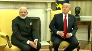 PM Modi and President Trump hold their maiden bilateral meet in Washington DC