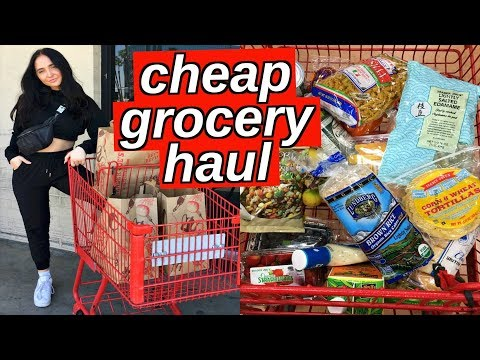 healthy cheap grocery haul   how to grocery shop for one person