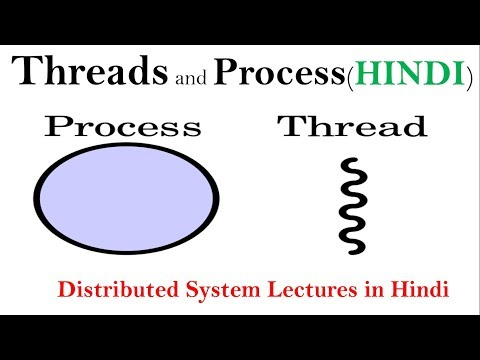 Threads and Process in Hindi  | Distributed System Lectures | DS | PDS