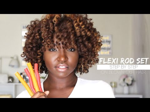 HOW TO : FLEXI ROD SET | Creme of Nature NEW BLOW OUT CREME