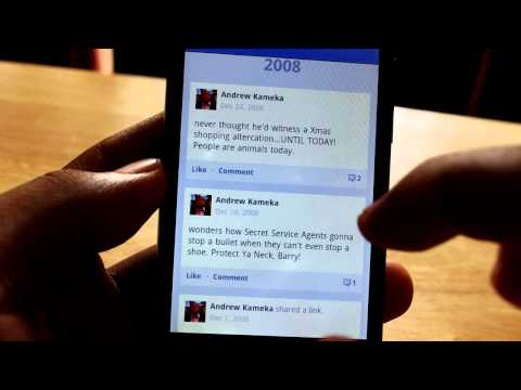 Facebook Timeline for Android demo
